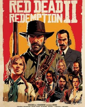 Rob Wiethoff - Red Dead Redemption II Title Poster