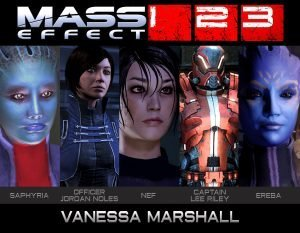 Vanessa Marshall - Mass Effect Character Collage